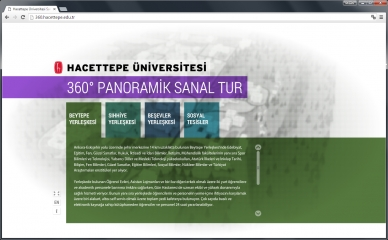 360° Panoramik Sanal Tur (Web Sitesi: http://sanaltur.hacettepe.edu.tr)